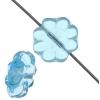 Glass Daisy 9mm Aqua Strung Bead